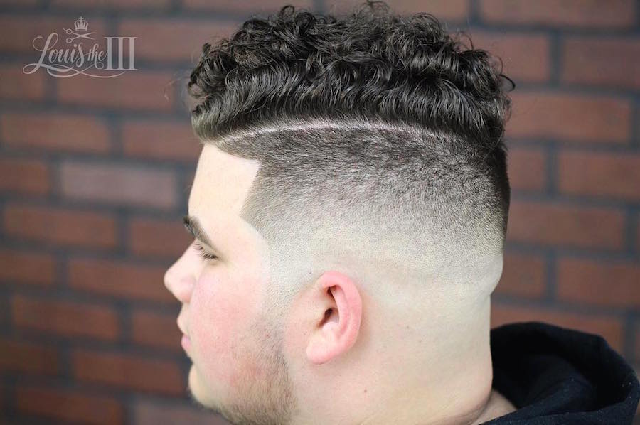 louistheiii_and high fade hard part and curls