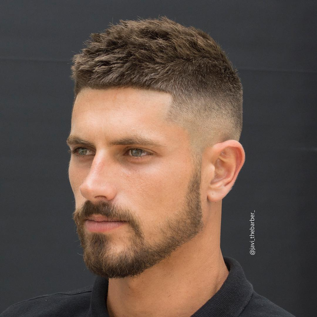 Short haircut for thick hair and mid fade