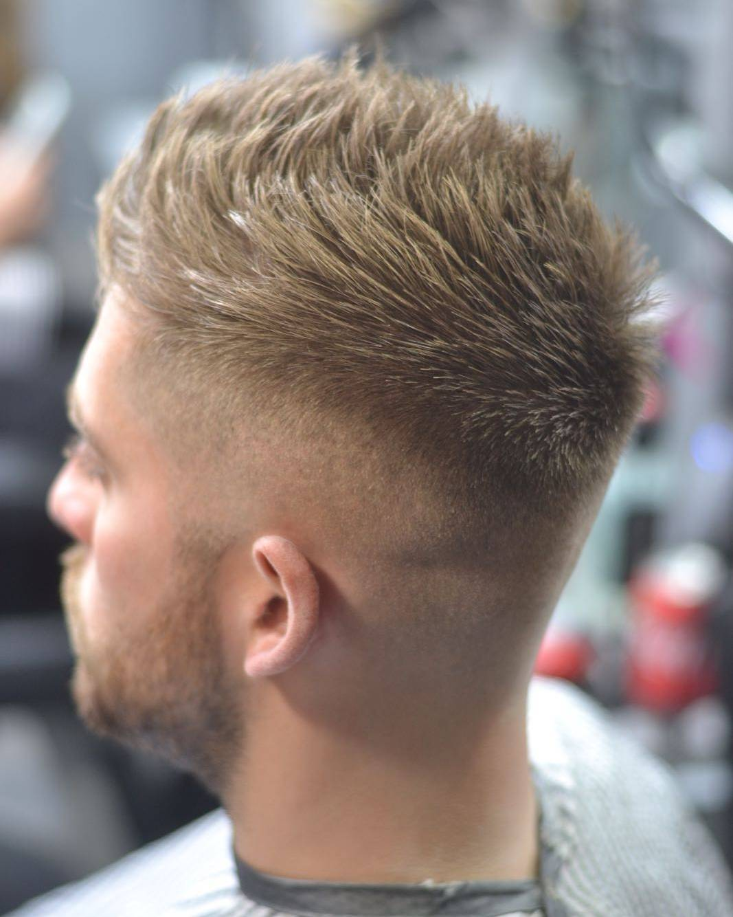 Spiky mens haircut for thick hair