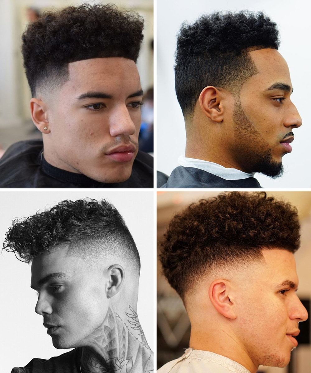 curly high top fade haircut