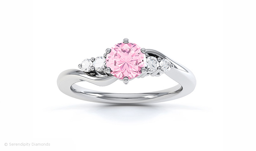 Tickled Pink stone promise ring