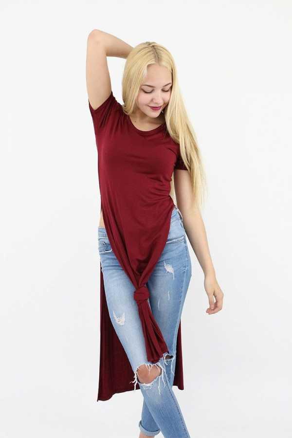 3fd6ec319debe Сегодня такие футболки очень популярны, они выглядят интересно, но не так  обязывают, как длинные платья-футболки. Поэтому они идеально подходят для  ...