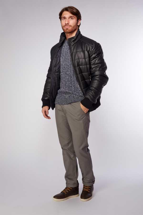 71592076ef5ea Фото мужских кожаных курток зимних – фирменные, коричневые, черные ...
